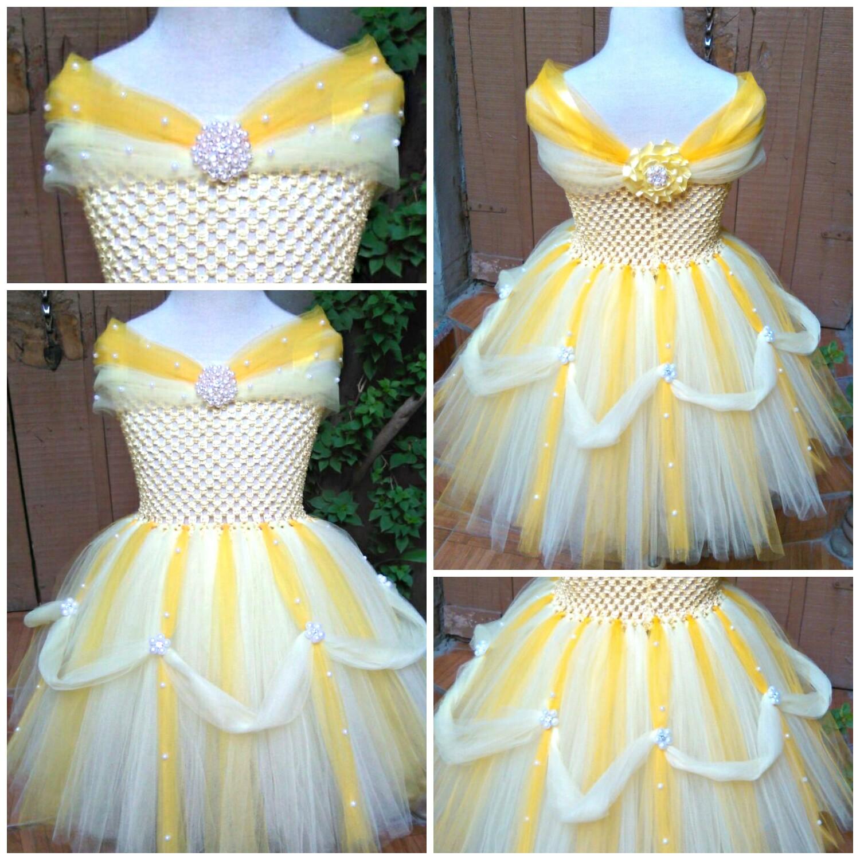4fc3e1584d7 Yellow Combination Pearl Belle Princess tutu dress - 0092 Store