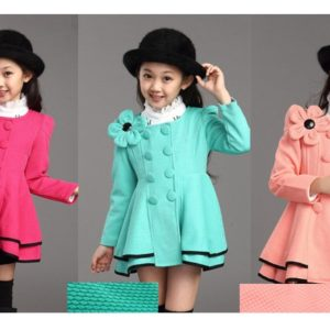 3 Colors Flower Girl Stylish  Coat