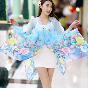 Butterfly summer UV sunscreen long shawl