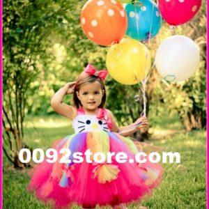 Birthday Rainbow Kitty Dress