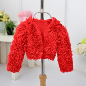 9-12 months baby red 3D flower cardigan