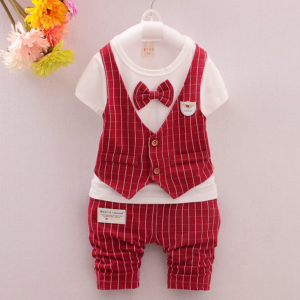 1-3 years baby boy Summer front waist coat shirt & Shorts