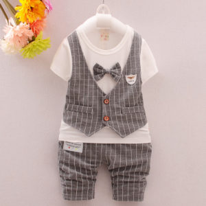 2-3years baby boy Summer front waist coat shirt & Shorts