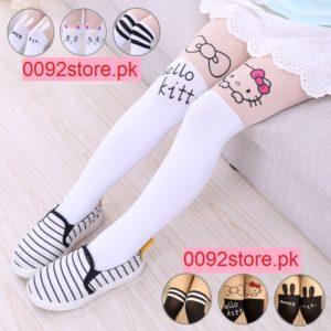 Set of WHITE & bLACK Kitty  stretch legging