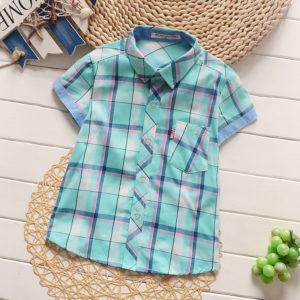 厂家直销 男童童衬衣2016夏季新款韩版短袖衬衫 淘宝一件代发 图片_高清大图 - 阿里巴巴 - 1
