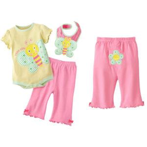 童套装-童装夏款男宝宝三件套装带口水巾哈衣套装可挑码数可代发-尽在阿里巴巴 - 1