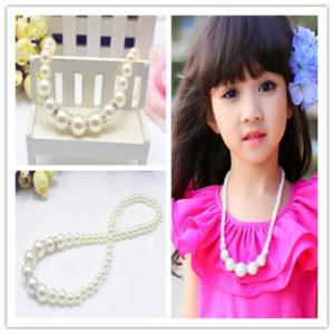 项链-韩版儿童饰品儿童水钻珍珠项链女童公主项链百搭简约可爱项链-尽在阿里巴巴 - 1