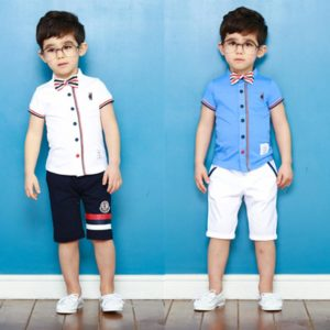1-6years boys summer cotton shirt & shorts