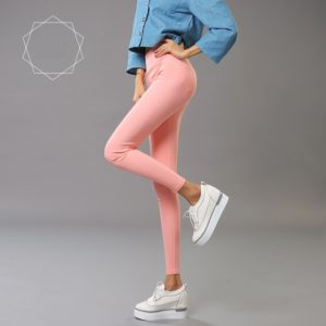 Peach High Quality imported High Waist Cotton Pencil pants