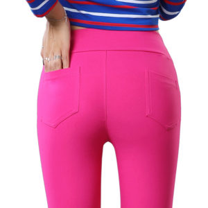 Rose High Quality imported High Waist Cotton Pencil pants