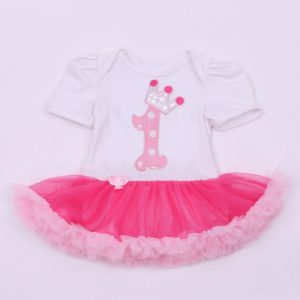 2nd year  Birthday soft Baby embroided Tutu Romper