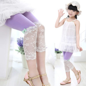Summer 5 Colors Korean Lace Bowknot cotton Capri