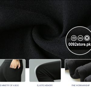 Black High Quality imported High Waist Cotton Pencil pants