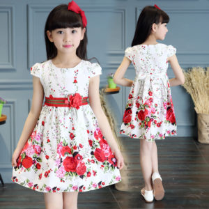 3-8 years Summer Cotton floral print Frock
