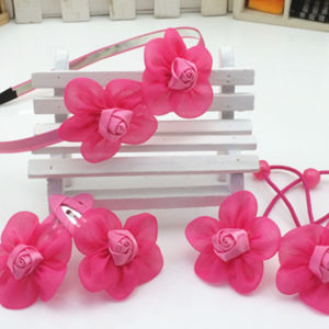 5 pieces Rose Silk Flowers Hair accessories set