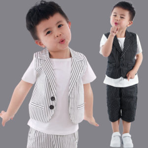 6-7 years Front button lining waistcoat Shirt & shorts