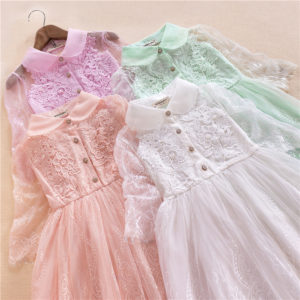 4-9 years Summer Luxury branded  Lace beaded frock