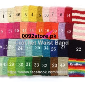 9inchX7inchUnited States TUTU skirt elastic knitting belt / Crochet waist Band