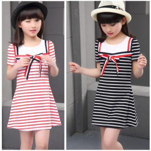 4-7 years Girl stripes Long Shirt