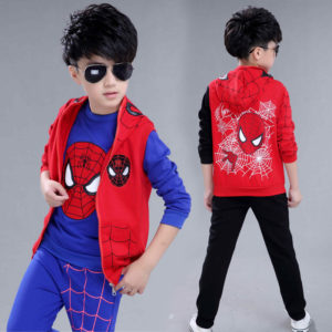 4-12years Cozy 3 pieces Spider man Set