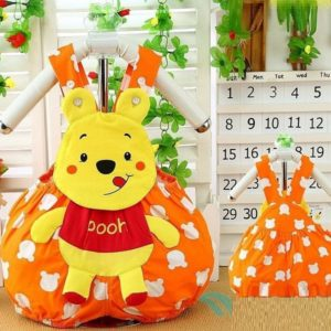 0-2 years baby Orange Pooh Aapplic Romper