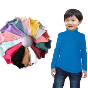 2-8 years Cotton Woven High Neck in 8 Colors