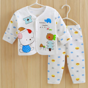2 Pcs Organic Cotton New Born Baby White Set 0-3 & 3-6 months