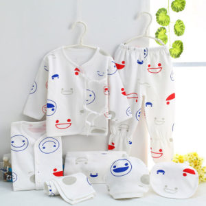7 Pcs Organic Cotton New Born Baby Gift Box Set 0-3 months