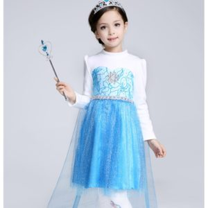 Winter Plush Velvet Thick Elsa  princess Frock