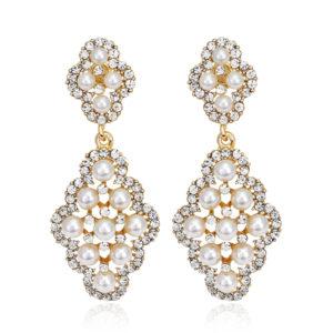Golden Pearl Bohemian  Earrings