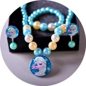 Shimmer Elsa Sky Pearls Necklace, Earrings & bracelet