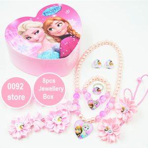 Pink Elsa 8pcs Jewllery Box