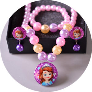 Shimmer Purple & Pink Pearls Necklace, Earrings & bracelet