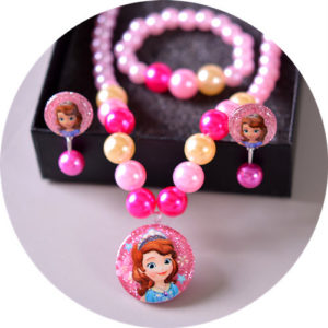 Shimmer dark Pink Pearls Necklace, Earrings & bracelet