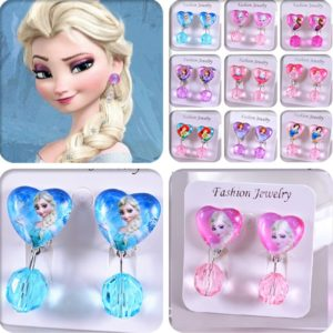 Kids Shimmer Princess Clip Earrings