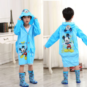 Cute mickey Mouse Raincoat With Backpack Cover