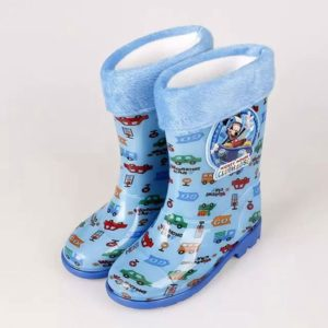 Blue Long rain Boots with removable Cushion Soft Linning
