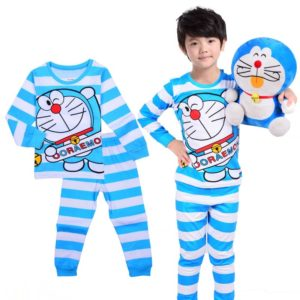 2-6 years boys cotton Doreman Shirt & Pajama sleeping Suit