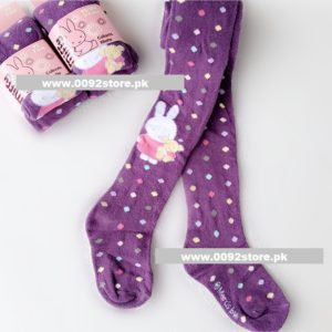 3 years  Baby Girl Dark Purple Miffy colored dots Cotton Legging