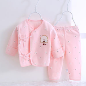 3-6 months 2 Pcs organic Cotton Embroidery New Born Baby Set 0-3 & 3-6 months