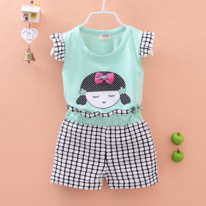 Doll Sky Blue Cotton Shirt & Shorts
