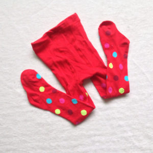 1-2 years Baby Girl Red Multi Dots Cotton Legging