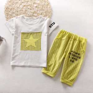Yellow Star Summer Shirt & Shorts