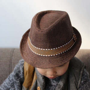 Brown Korean Feroda Weft Knitted Flip Hat