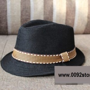 Black Korean Feroda Weft Knitted Flip Hat