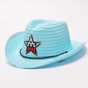 Sky Blue Cute Stylish Star High Quality Cow Boy Cap