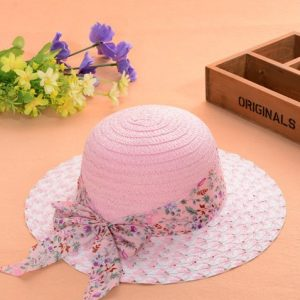 Pink Summer Silk Floral Sun Hat