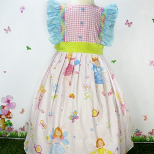 Baby Pink fairies Print Cotton Frock