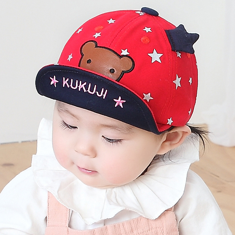 bfe70ef2531 Baby Boy 6-24 months Red Bear Summer Cap - 0092 Store