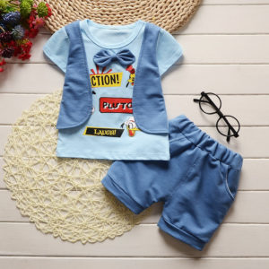 Front Waist Coat Sky Blue Shirt & Shorts